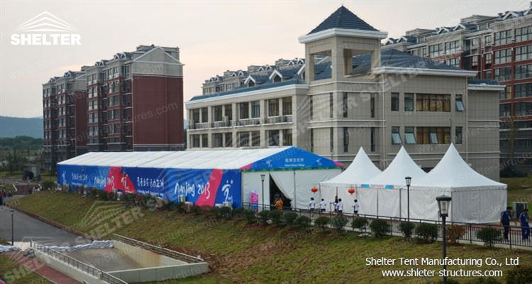 outside event tent