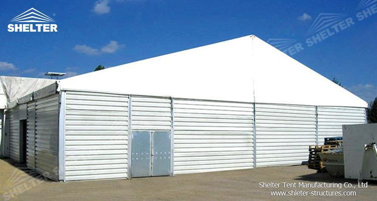 huge warehouse tent